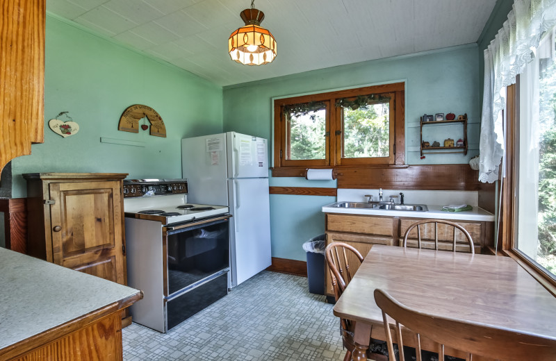 Rental kitchen at Hiller Vacation Homes.