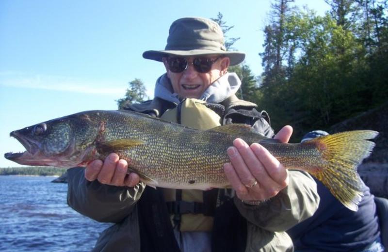 Fishing at Caribou Falls Lodge