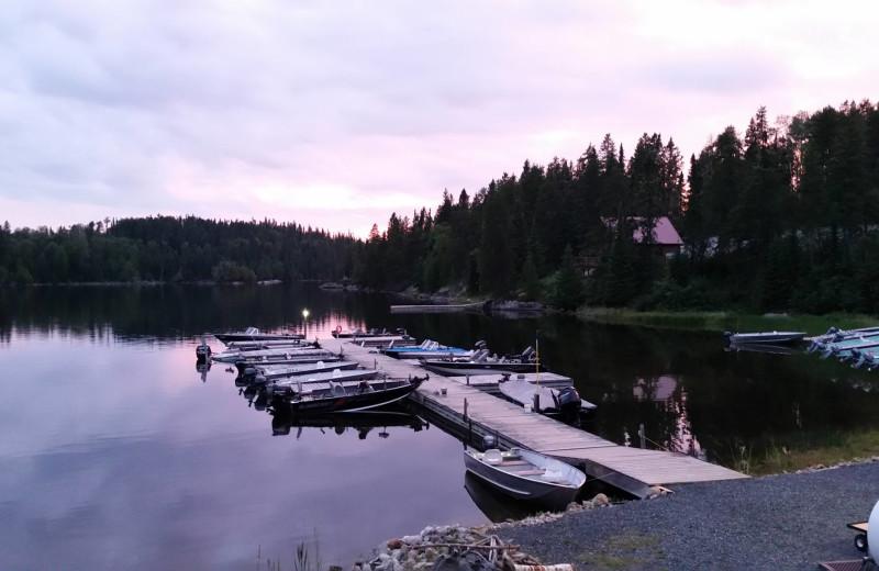 Lake at Cliff Lake Resorts.