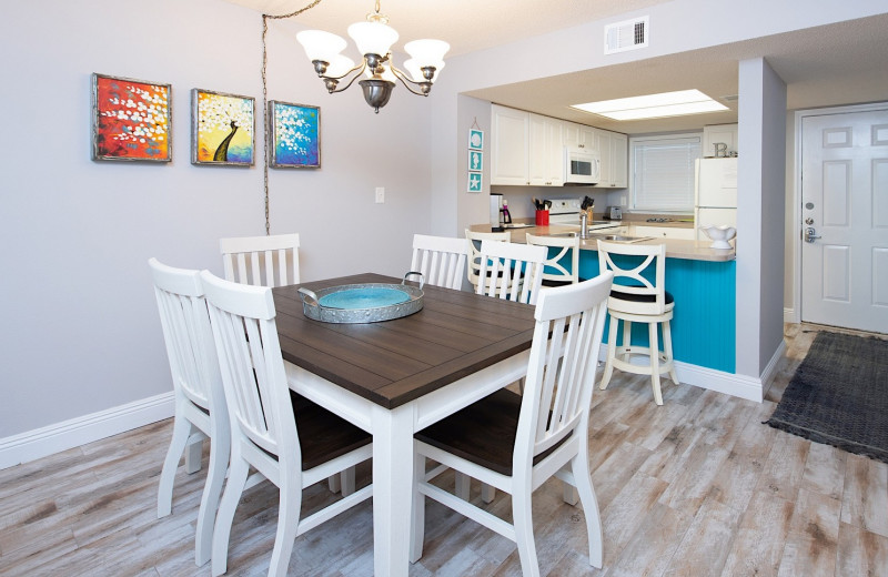 Rental kitchen at Coastal Properties.