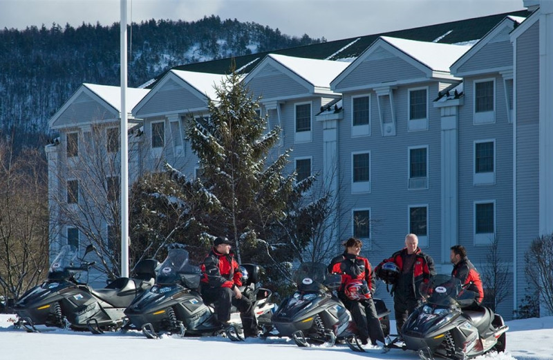 Snowmobiling at North Conway Grand Hotel.