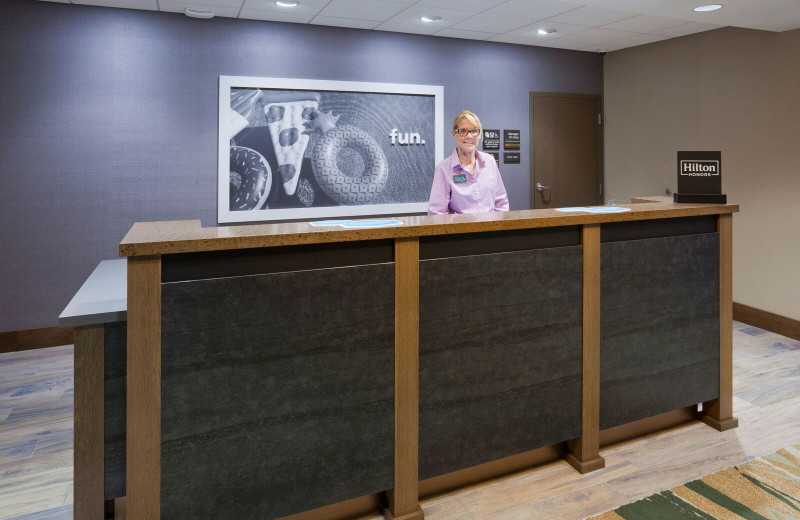 Reception desk at Spicer Green Lake Resort.