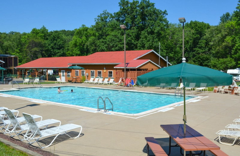 Outdoor pool at Yogi at Shangri-La - Jellystone Park.