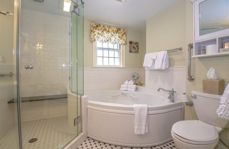 Guest bathroom at Adair Country Inn.