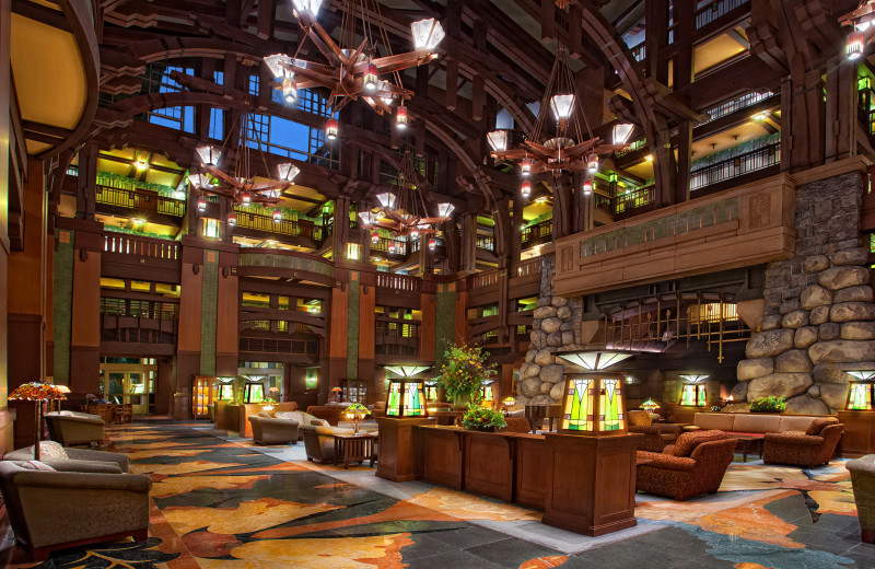 Lobby at Disney's Grand Californian Hotel.