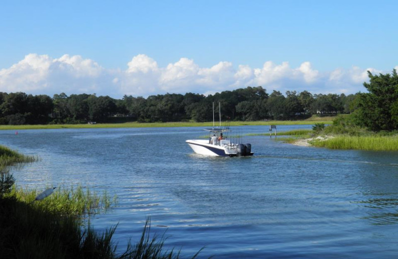 Boating at Brunswick Plantation Resort.