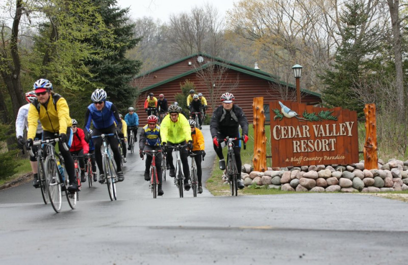 Biking at Cedar Valley Resort.