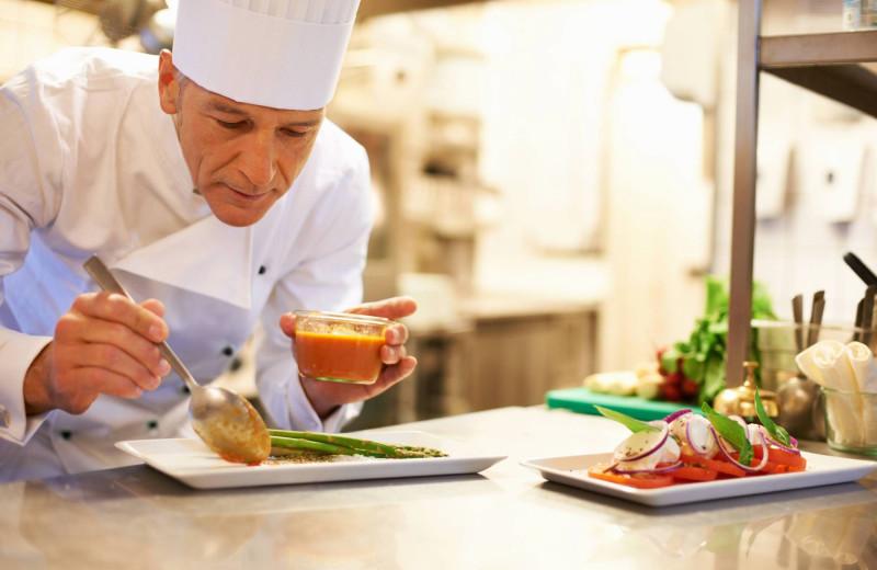 Chef prepared meals at Bar Harbor Inn & Spa.