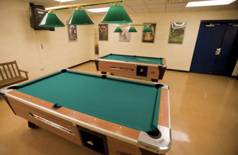 Pool tables at Wyndham Vacation Resorts Shawnee Village