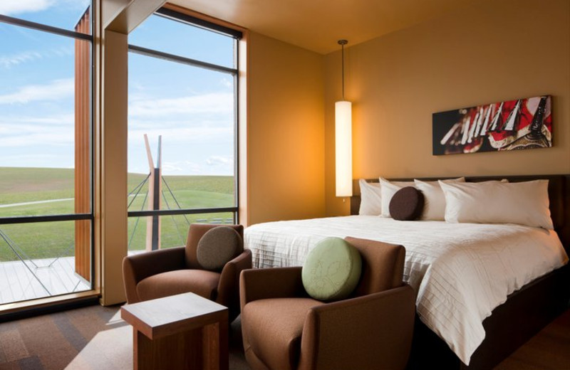 Guest room at Coeur d Alene Casino Resort Hotel.