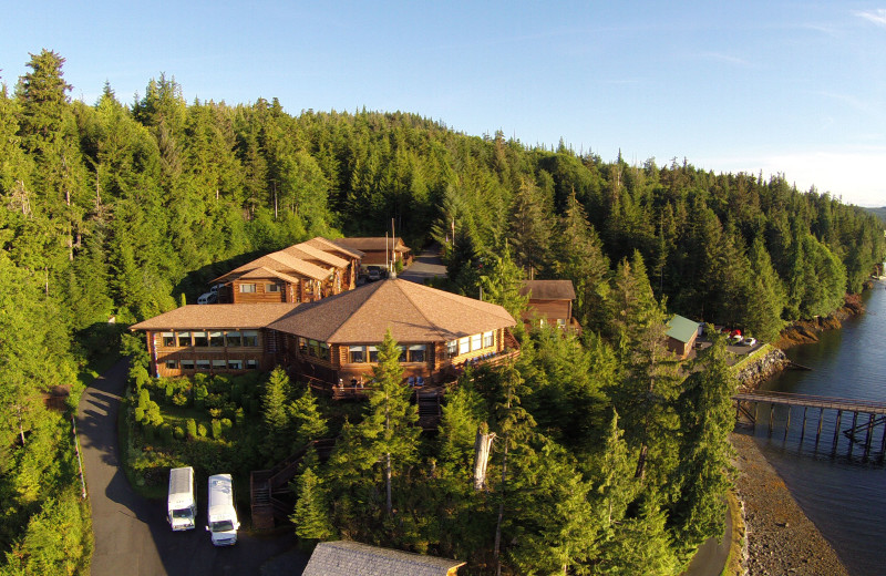 Aerial view of Salmon Falls Resort