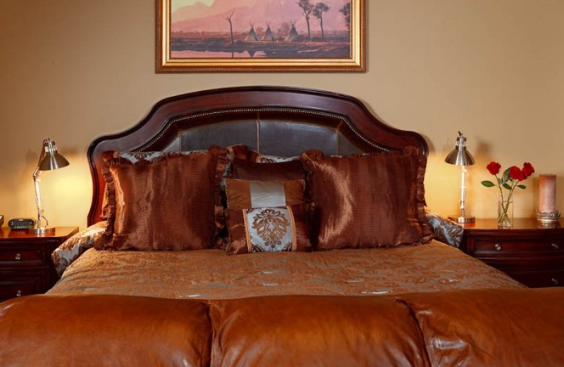 Guest bed at White Buffalo Club.