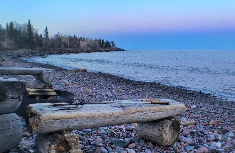 Beach at Bluefin Bay on Lake Superior.
