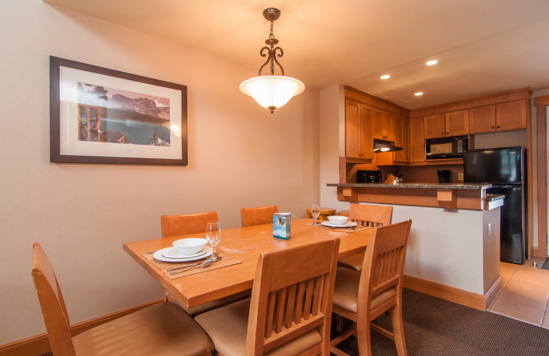 Guest kitchen at Hidden Ridge Resort.