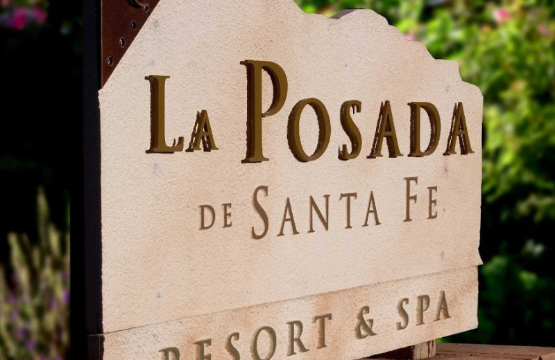 La Posada de Santa Fe Resort & Spa sign.
