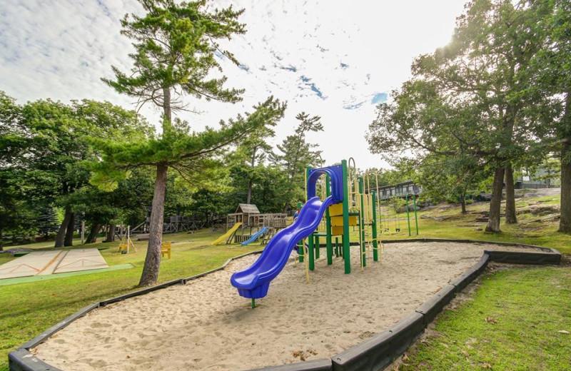 Playground at Delawana Resort.