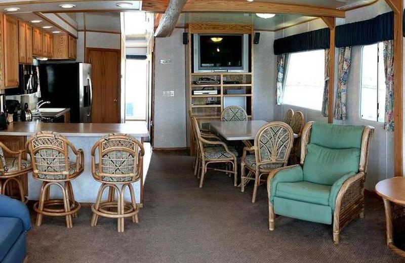 The 70' Titanium houseboat interior at Pleasure Cove.