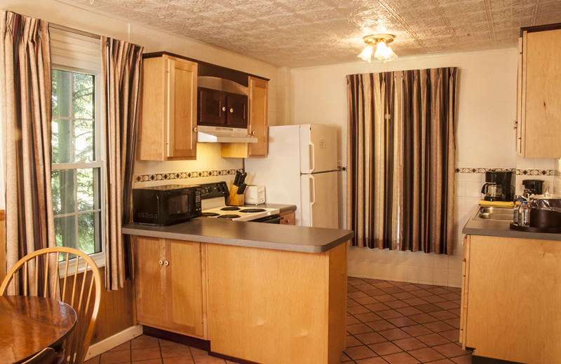Guest kitchen at Maple Terrace Motel.
