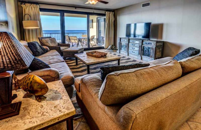 Rental living room at Luna Beach Properties.