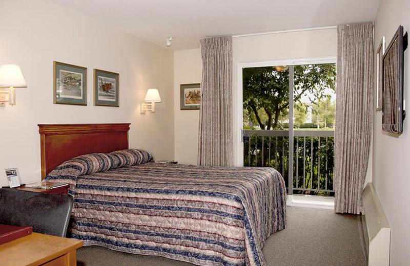 Guest room at Bear Lodge.