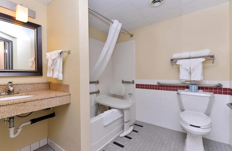 Bathroom at AmericInn by Wyndham.