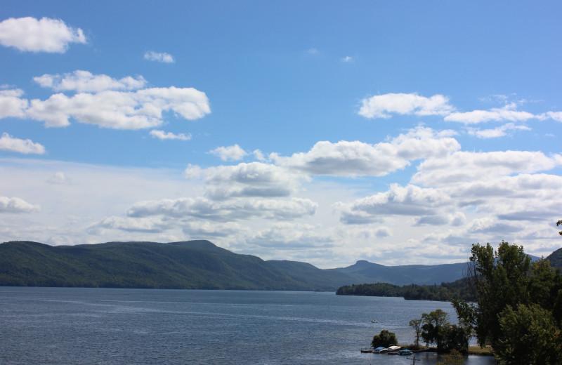 Lake view at Trout House Village Resort.