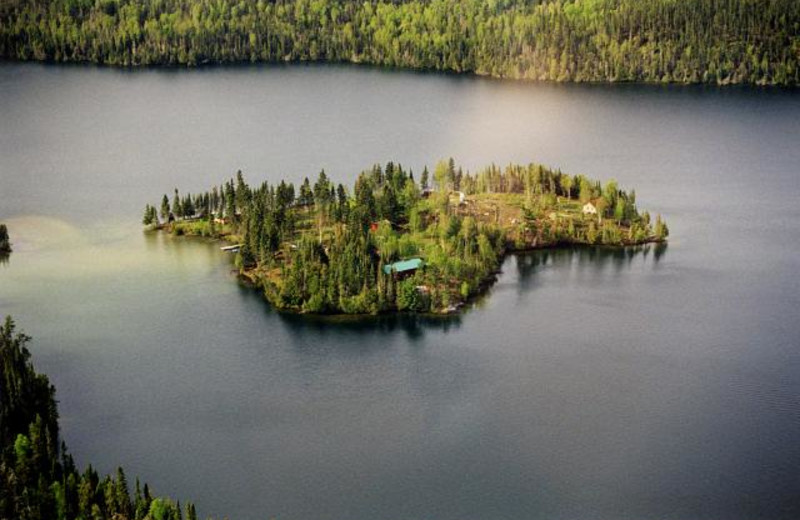 Aerial View of Anishinabi Lodge