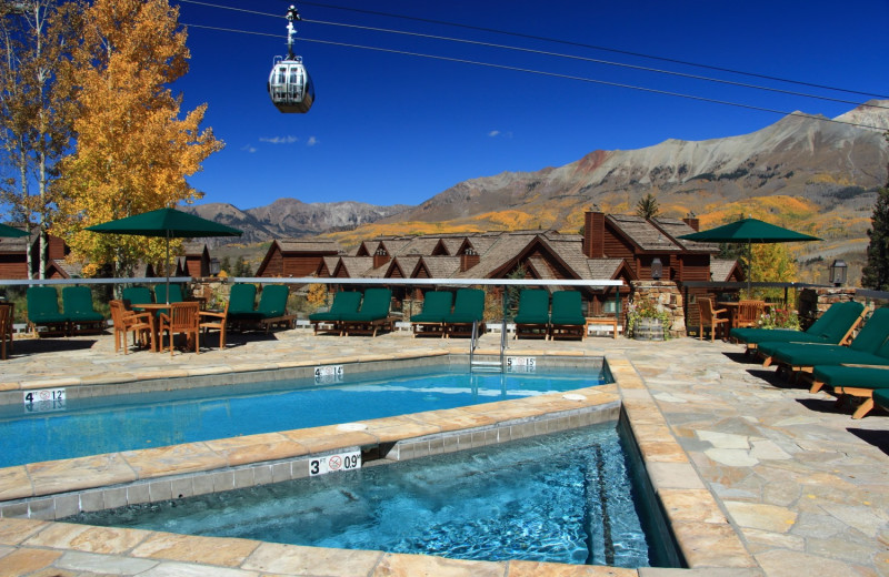 Outdoor pool at Mountain Lodge Telluride.