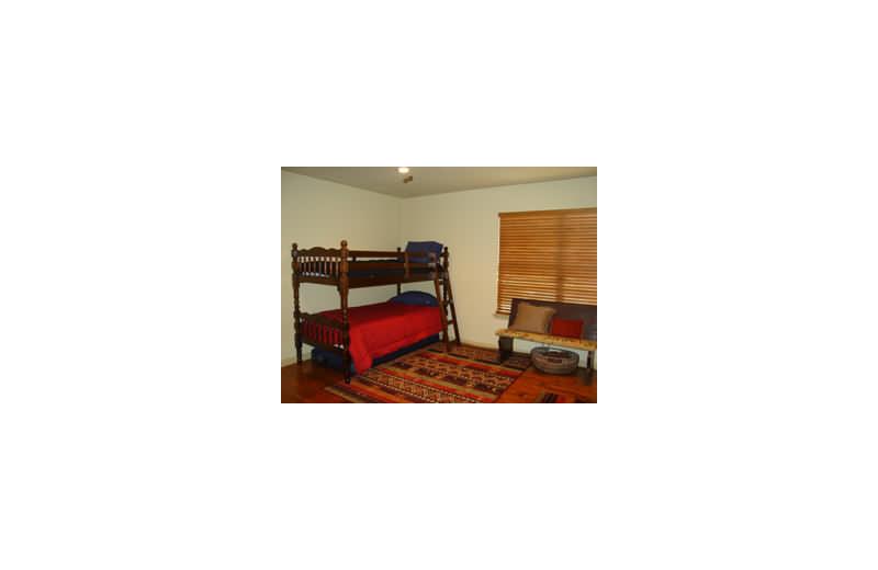 Rental bedroom at Loch Lone Star on Lake LBJ.