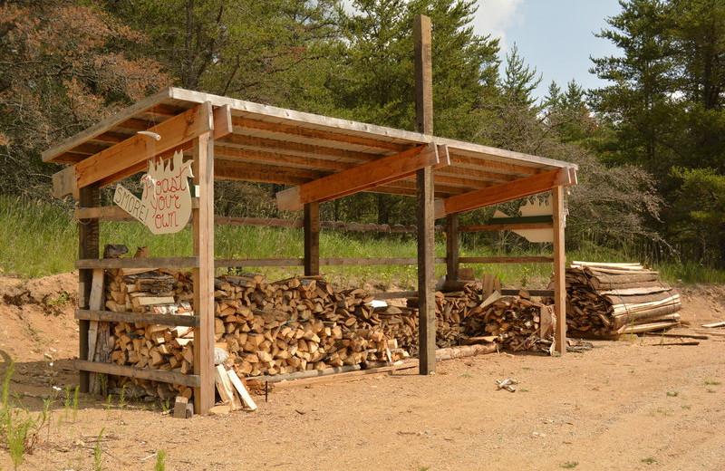 Firewood at Black Lantern Resort and Retreat.