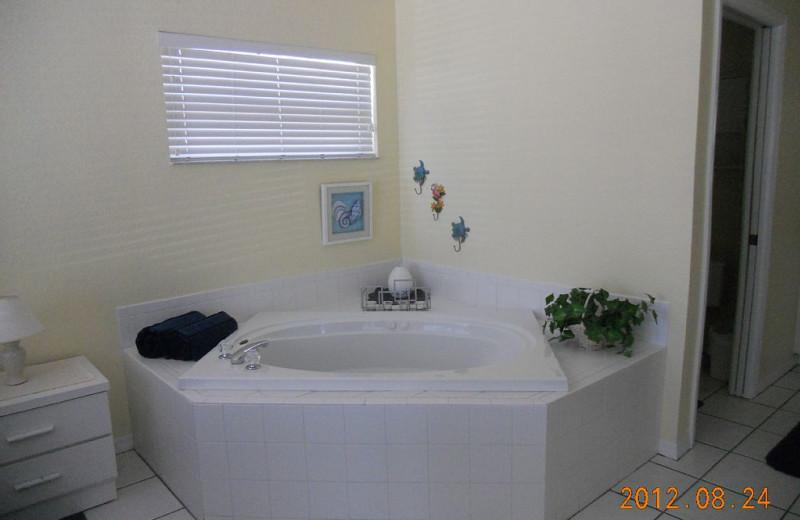 Rental bathroom at Alecassandra Vacation Villas.