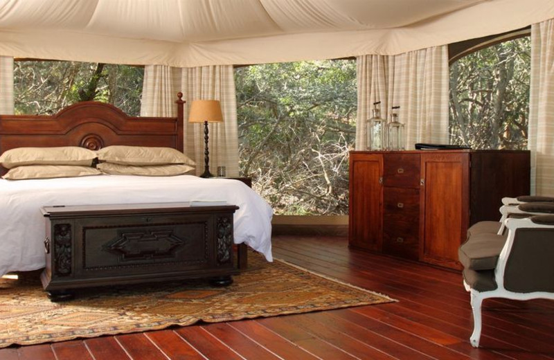 Guest room at Thanda Private Game Reserve.