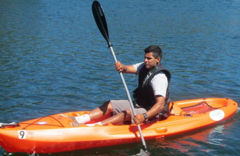 Kayaking at Pleasure Cove.