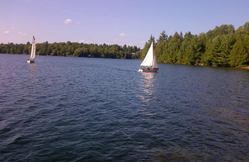 Sailing at Bonnie Lake Resort.