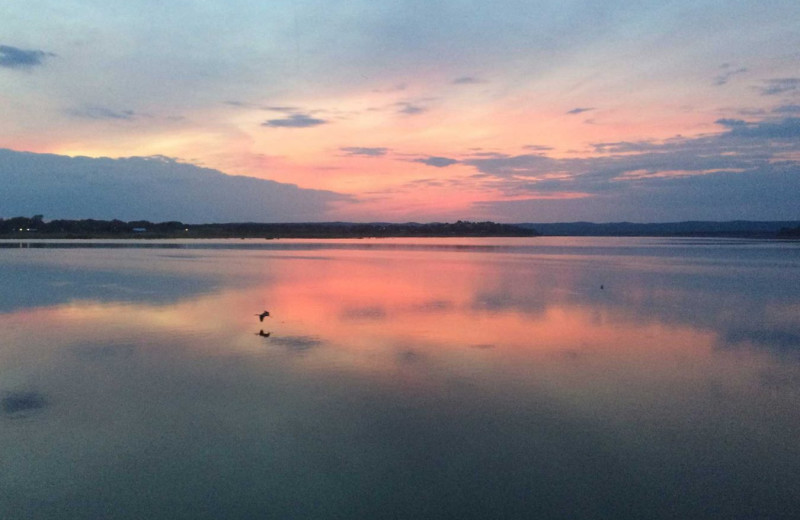 Lake view at Painted Sky Inn.