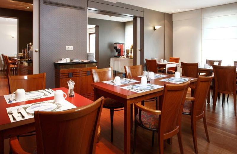 Dining at Hotel NH Mechelen.