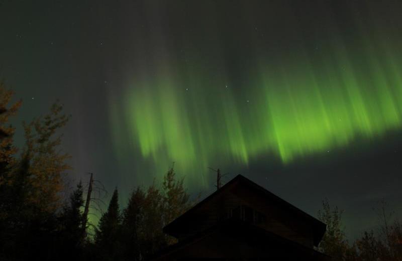 Northern lights at Golden Eagle Lodge.