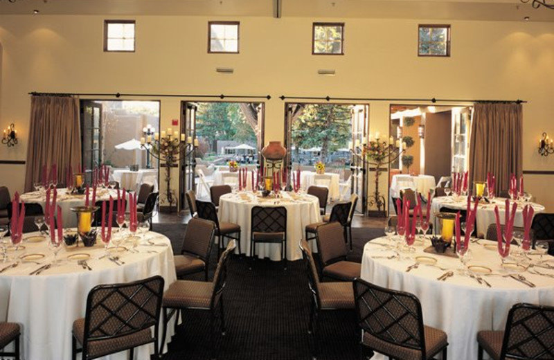 Banquet room at La Posada de Santa Fe Resort & Spa.