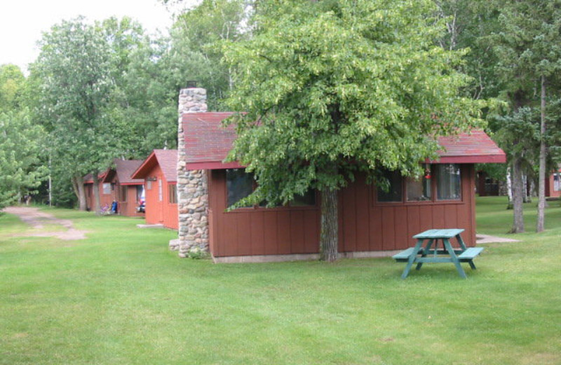 Cabins at Fremont's Point Resort.
