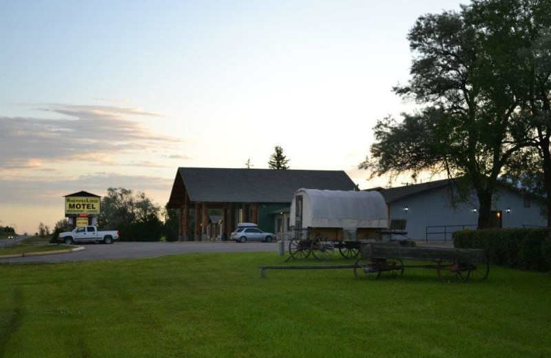 Exterior view of Ninepipes Lodge.