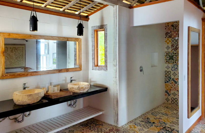Guest bathroom at Bocas Bali Resort.