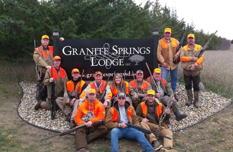 Hunting at Granite Springs Lodge.