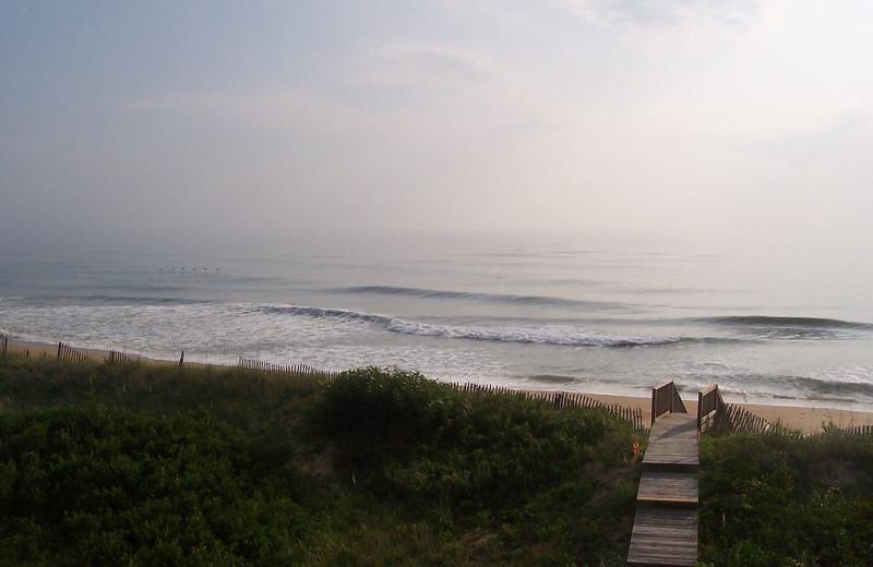 The beach at Outer Banks Inn.