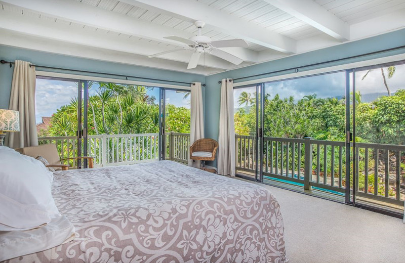 Rental bedroom at Hawaiian Vacation Rentals.