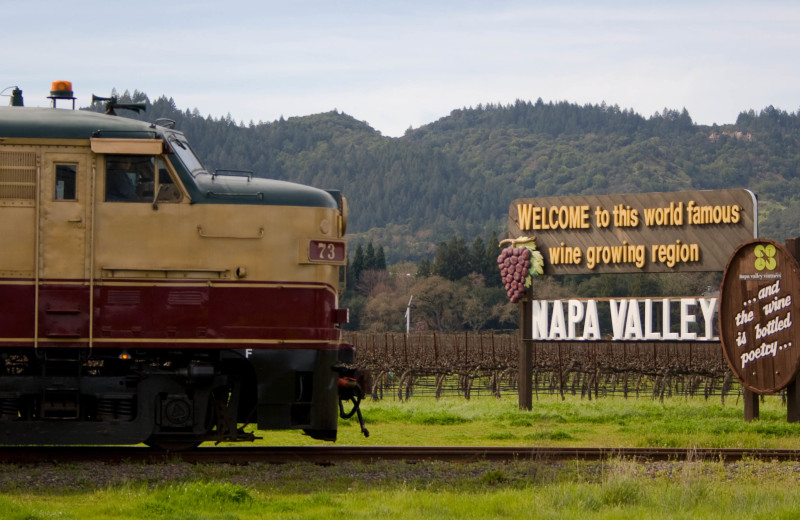 Napa Valley Wine Train near Hennessey House Bed & Breakfast.
