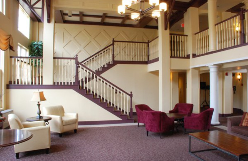 Lobby view at The Golden Eagle Lodge.