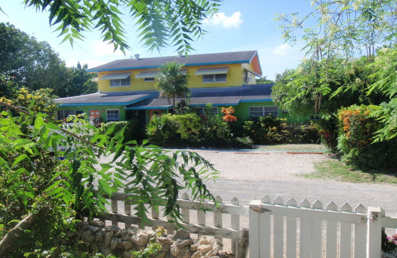 Exterior view of Eldemire's Tropical Island Inn.