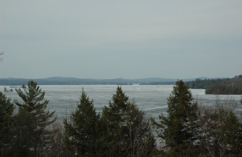 Frozen River at Channel Waterfront Cottages