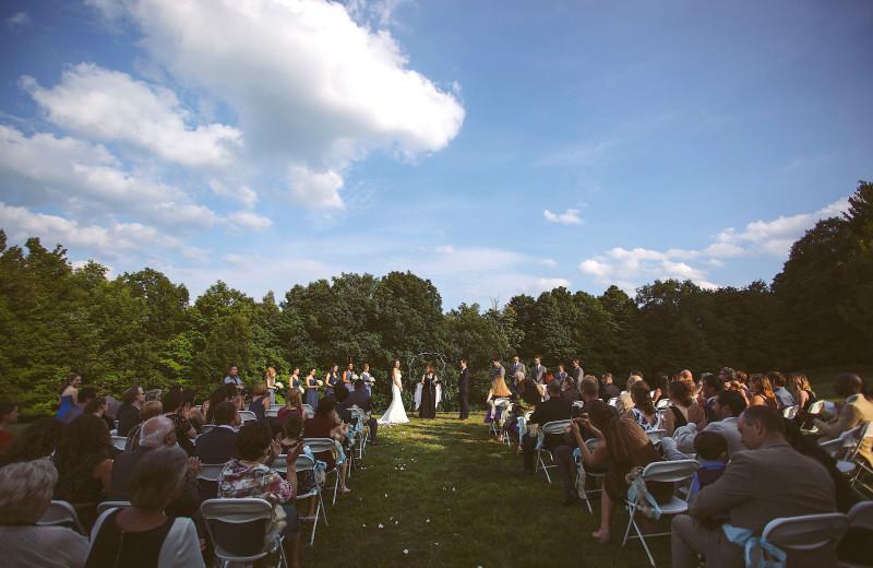 Wedding on the Side Lawn