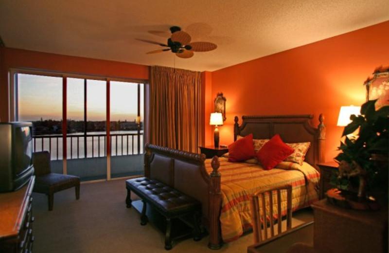 Condo bedroom at Vanderbilt Beach Resort.